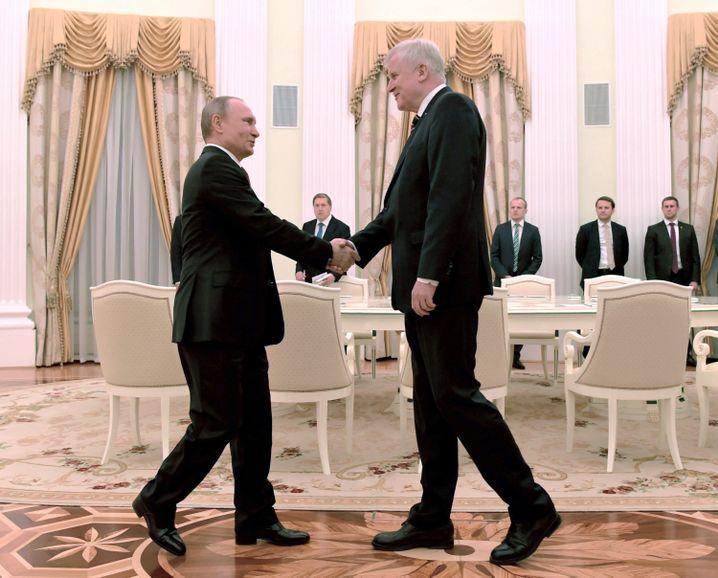 Treffen von Wladimir Putin und Horst Seehofer