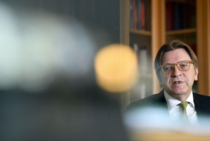 Chef der Brüsseler Liberalen, Guy Verhofstadt