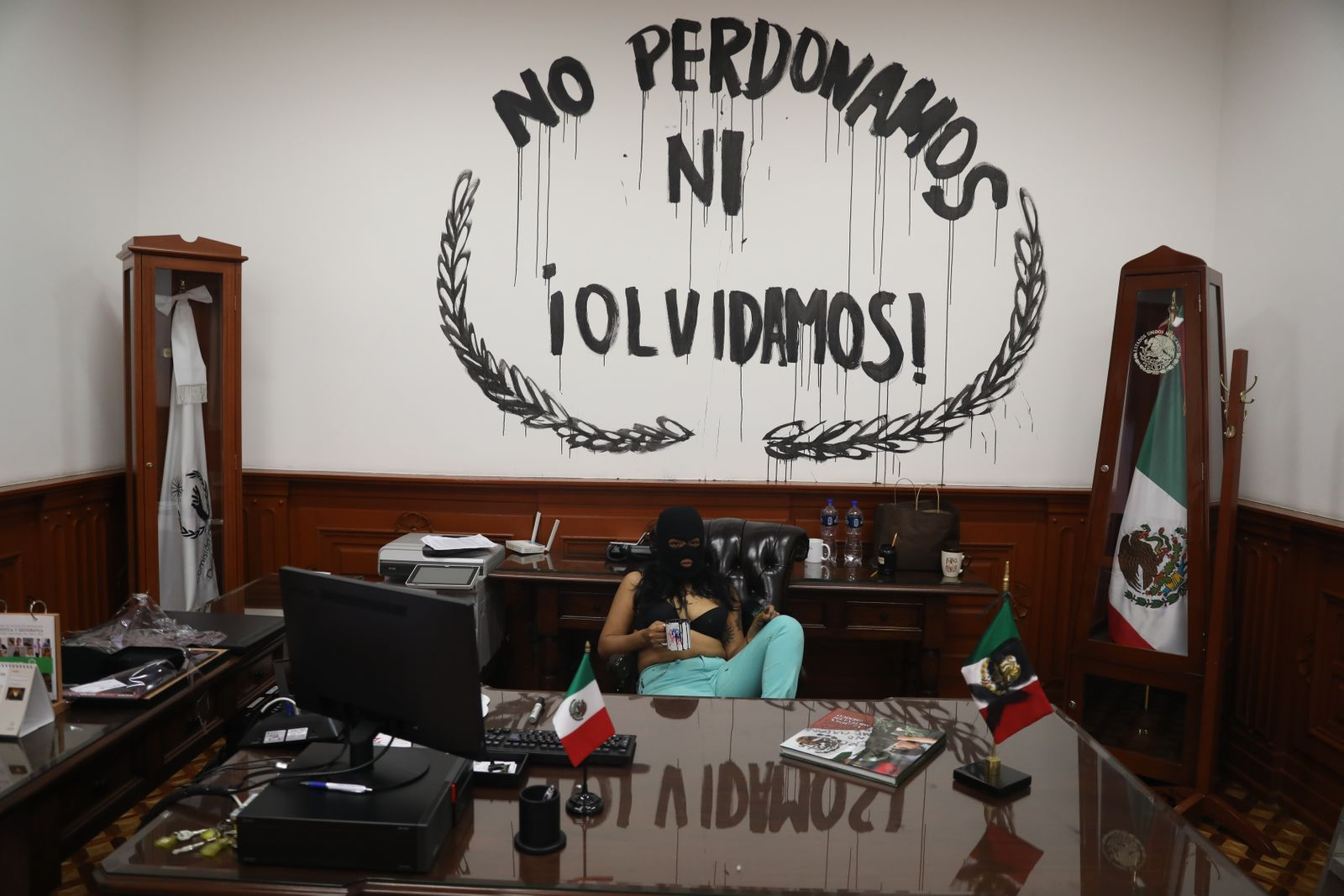 Protest demanding justice in cases of violence against women, in Mexico, Mexico City - 06 Sep 2020