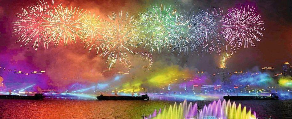 Feuerwerk in Shanghai