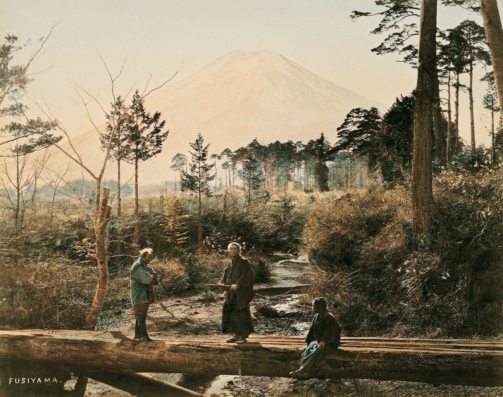 Historische Reisebilder - Fujiyama 1864 und 1868