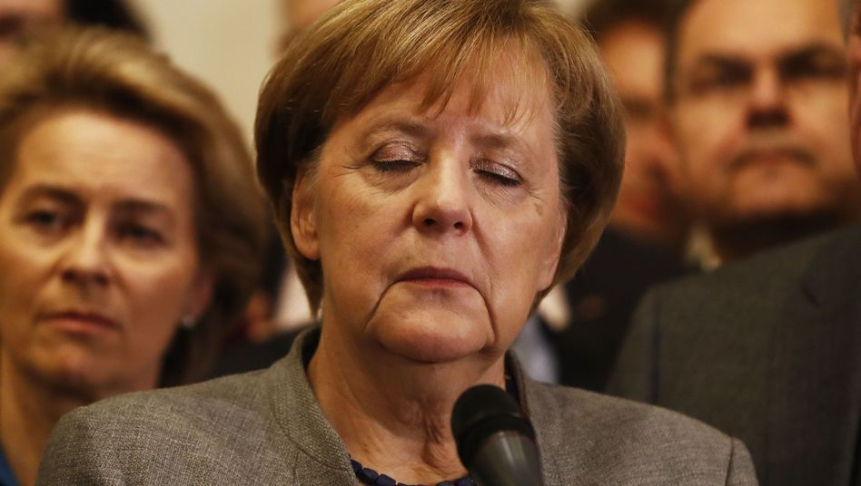 German Chancellor Angela Merkel on Sunday night.