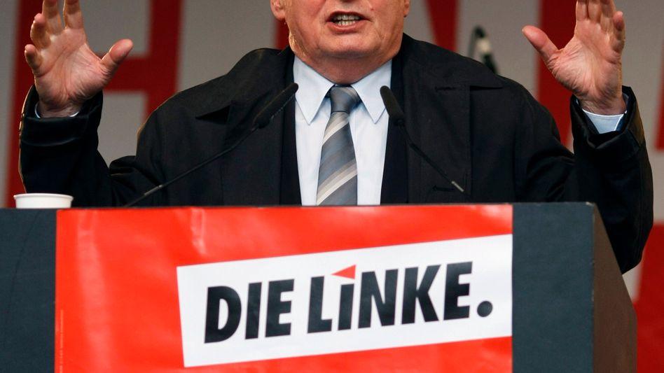 """Wahlkämpfer Lafontaine in Dortmund: """"Die SPD hat dem Kriegseinsatz zugestimmt"""""""