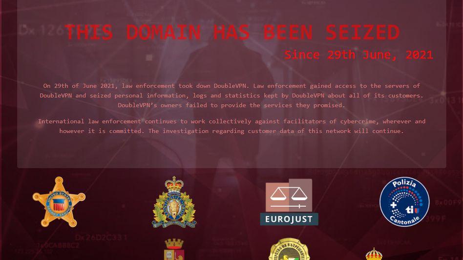 Interessenten bekommen auf der Website des Anbieters nur noch eine Nachricht der Polizeibehörden angezeigt