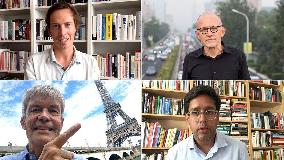 SPIEGEL-Korrespondenten Popp, Zand, Simons, Kazim