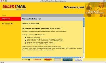 Website der Post-Tochter Selekt Mail: Mitarbeiter schätzen die Arbeit trotz schlechter Bezahlung