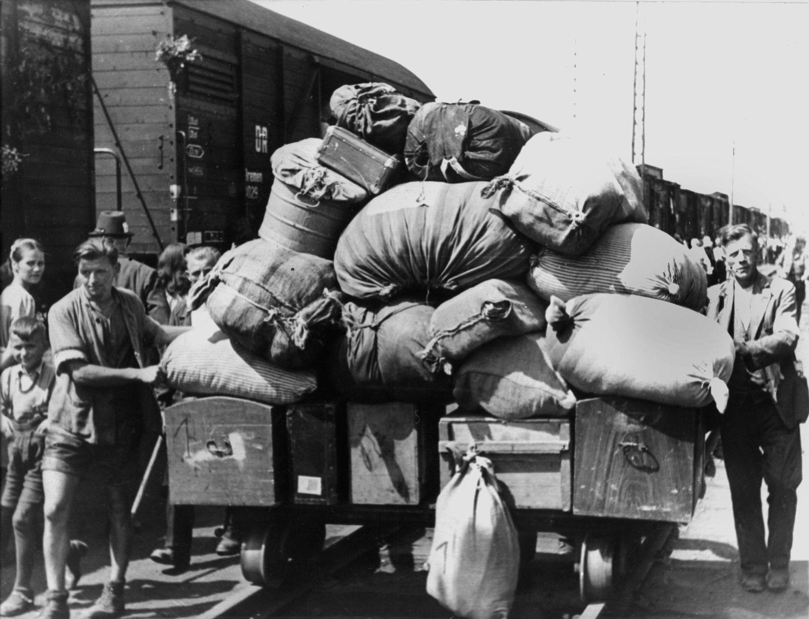 Vertriebene Sudetendeutsche / Flüchtlinge