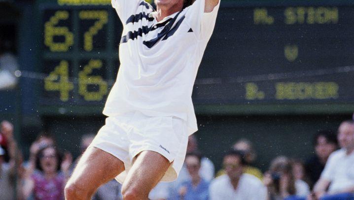 Wimbledon-Outfits: Beckers Pullunder, Federers Gürtelschnalle