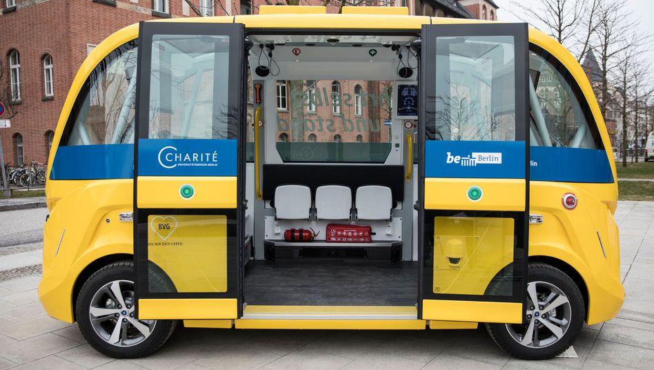 Ein Robo-Bus.