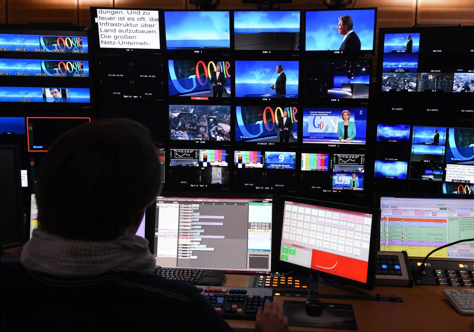 SYMBOLBILD Öffentlich rechtliches Fernsehen/ Tagesschau-Studio