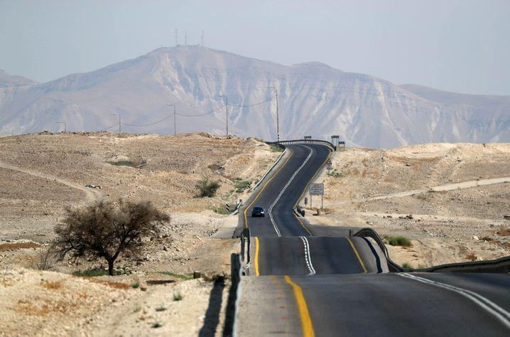 Straße im Jordantal: Die Mehrheit der israelischen Parteien befürwortet die Annexion
