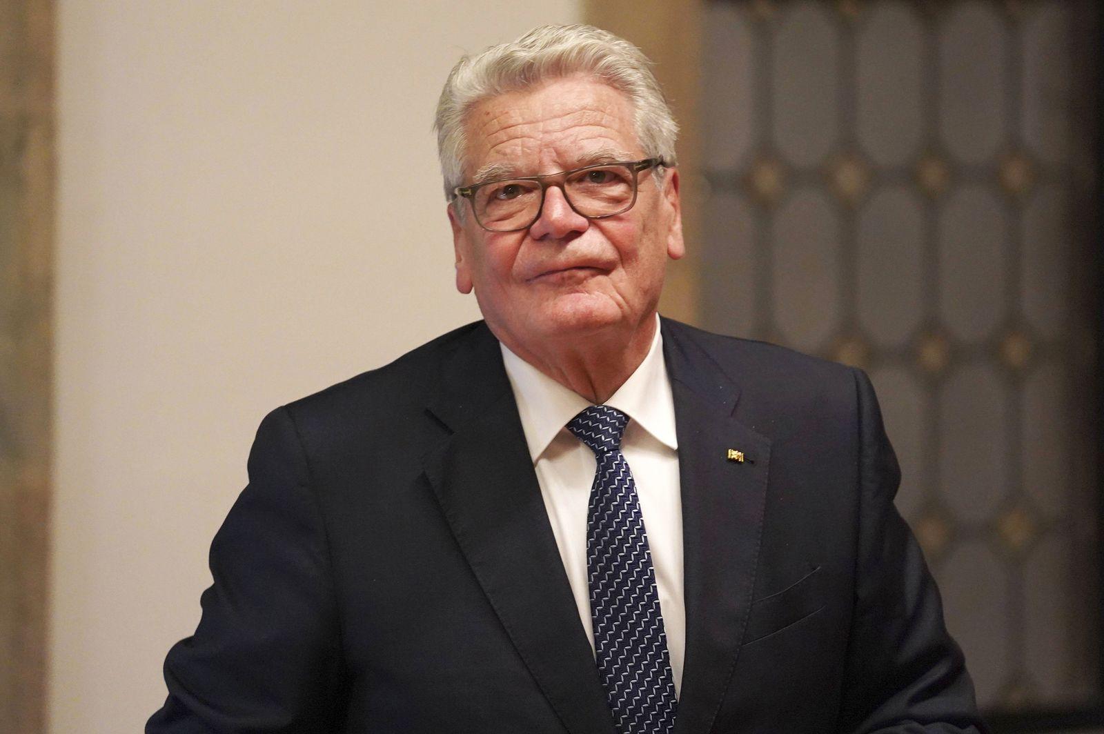 EINMALIGE VERWENDUNG Joachim Gauck
