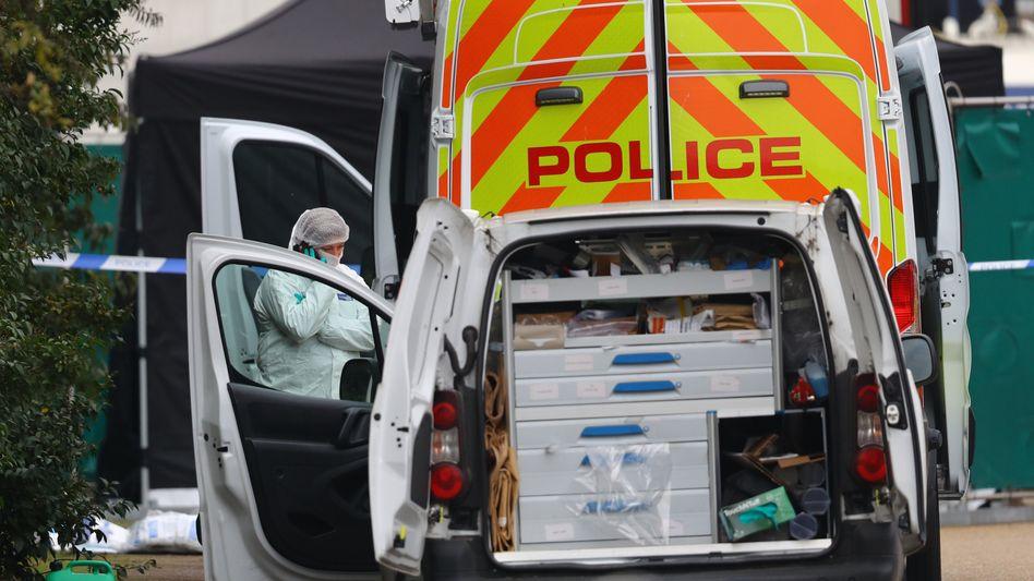 Polizeieinsatz im Industriegebiet in Essex (Archivbild vom Oktober 2019)