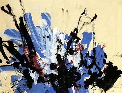 """Ein """"Congo"""": Der Schimpanse malte das Bild 1957"""