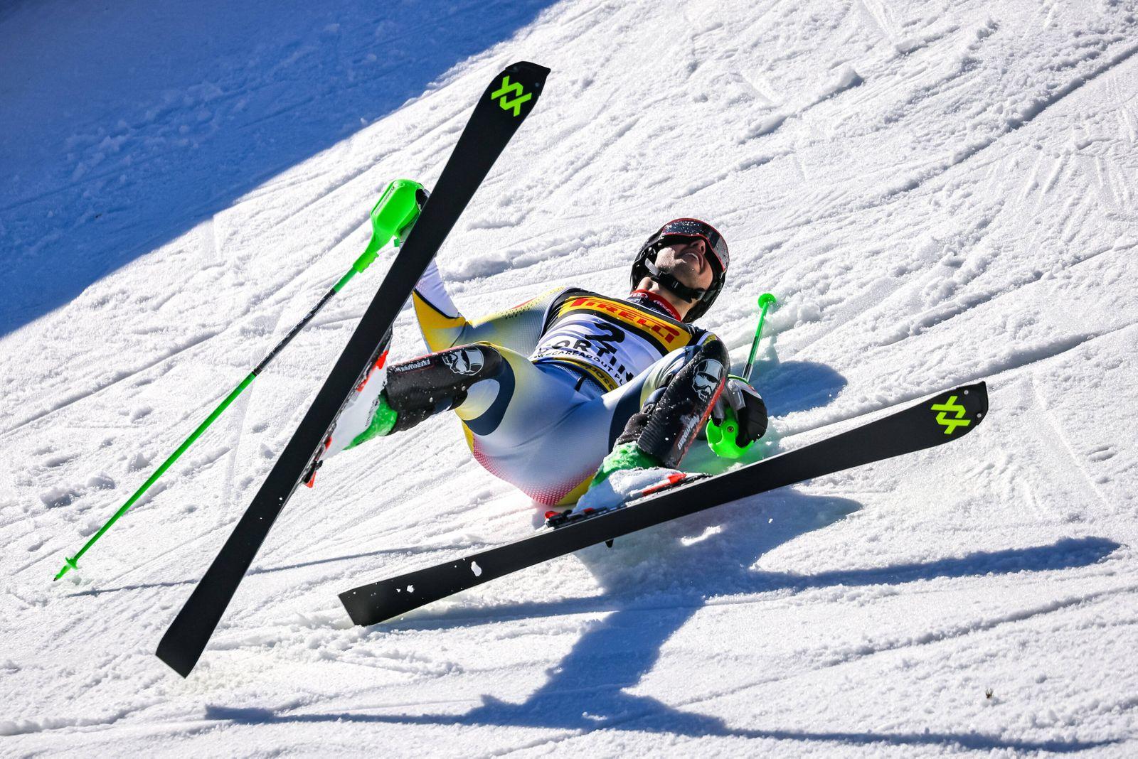 21.02.2021, Cortina, ITA, FIS Weltmeisterschaften Ski Alpin, Slalom, Herren, 2. Lauf, im Bild Goldmedaillen Gewinner un