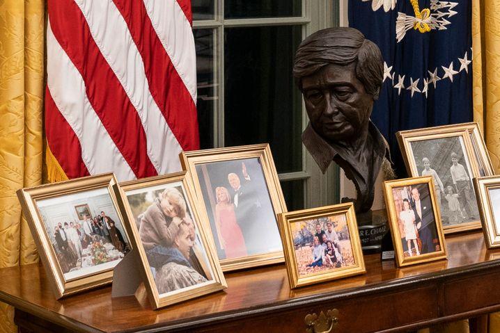Joe Biden ist ins Weiße Haus eingezogen – und hat Bilder seiner Familie mitgebracht