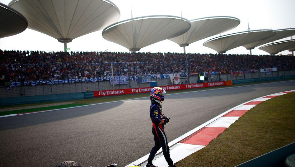Webber beim Großen Preis von China: Rad verloren, frühes Aus
