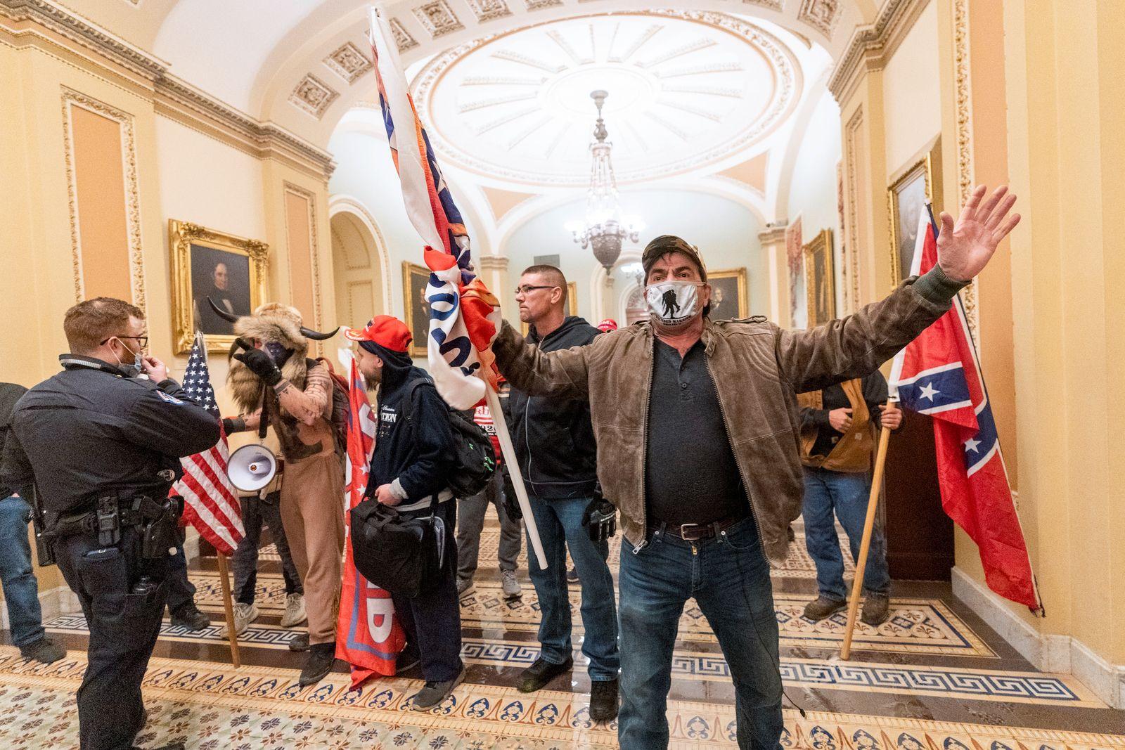 Capitol Breach Racist Symbols