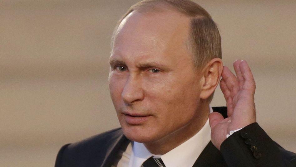 Russlands Präsident Putin: What?