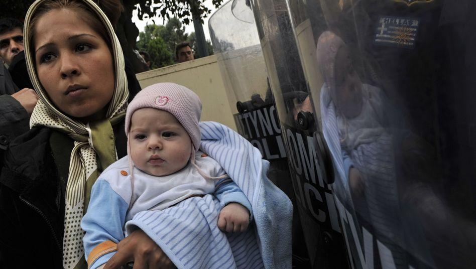 Flüchtlinge in Athen: Schwere Rüge des Europäischen Gerichtshofs für Menschenrechte