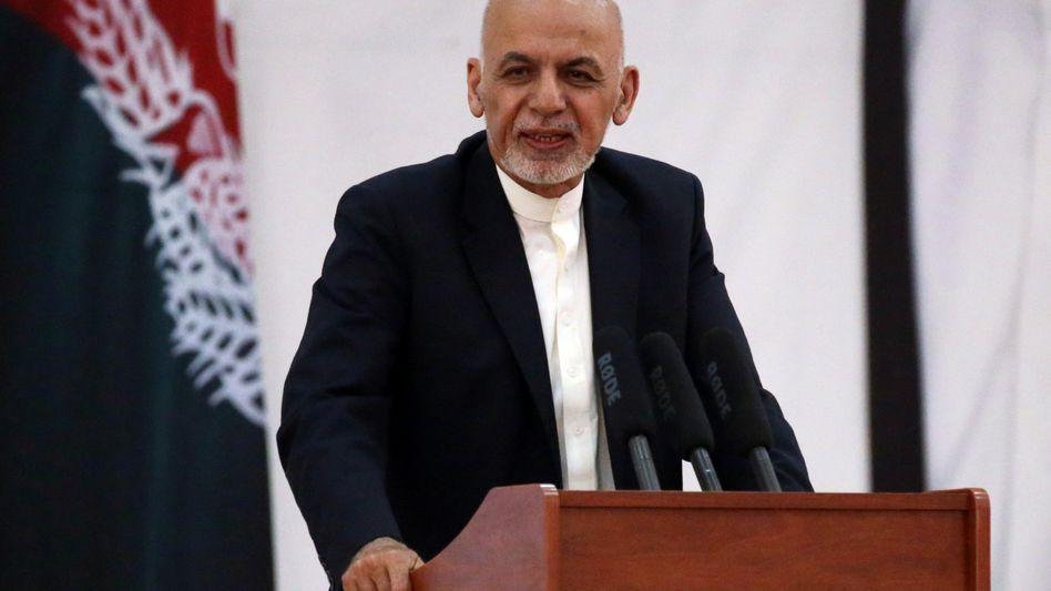 Präsident Ashraf Ghani: Laut Behördenangaben unverletzt