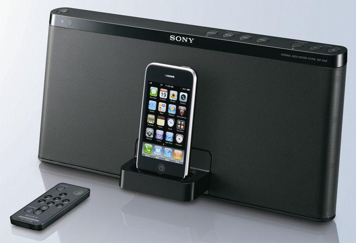 Sony RDP-X50iP: Soundflunder mit sattem Klang