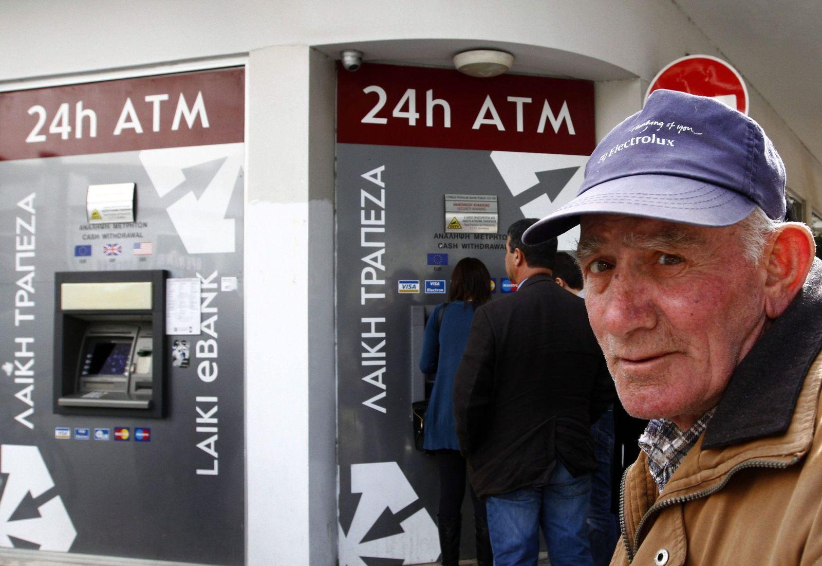 Zypern / Finanzkrise / Bank-Automat