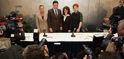 Vier mal Verrat? Dagmar Metzger, Jürgen Walter, Silke Tesch und Carmen Everts verweigerten der hessischen Jeanne d'Äppelwoi die Treue