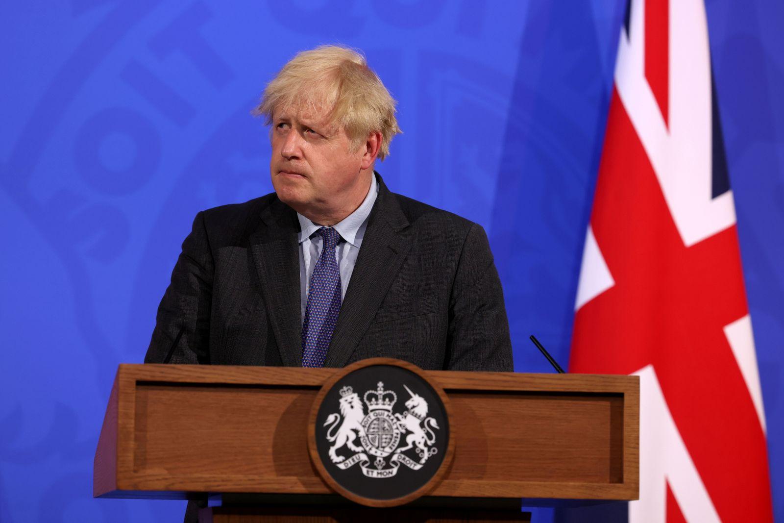 British PM Johnson announces coronavirus lockdown update in London