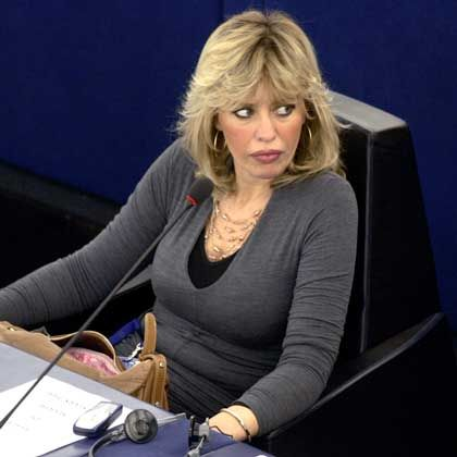 "Far-right European Parliament member Alessandra Mussolini: ""Better to be a fascist than a fag!"""