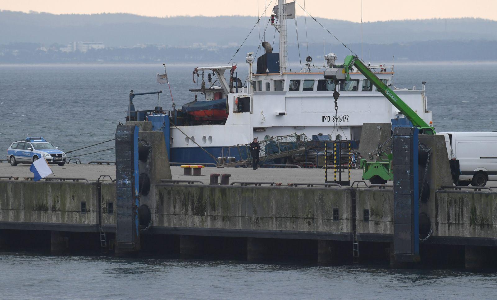 Schiffsunfall vor der Insel Rügen