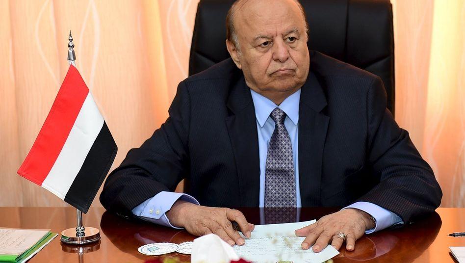 Jemens Präsident Hadi: Schlägt Feuerpause vor