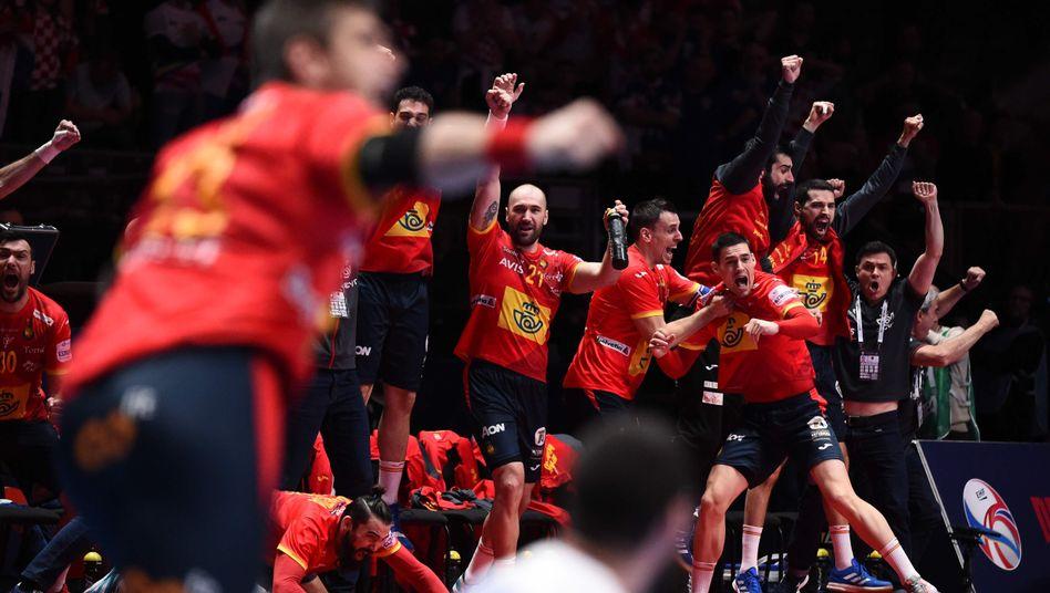 Spaniens Handballer bejubeln den zweiten EM-Titel in Folge