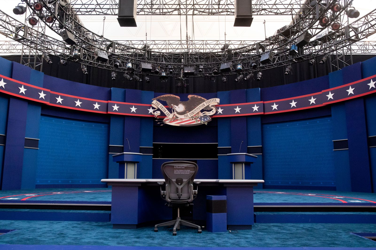 First 2020 presidential election debate between US President Donald J. Trump and Democratic presidential candidate Joe Biden, Cleveland, USA - 25 Sep 2020