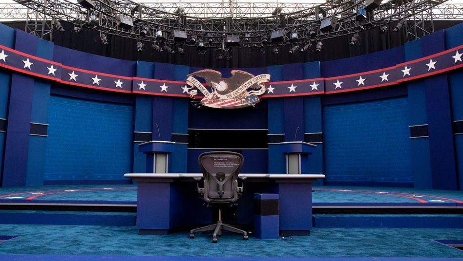 Findet trotz Corona-Sorgen statt: Die TV-Debatte zwischen Trump und Biden