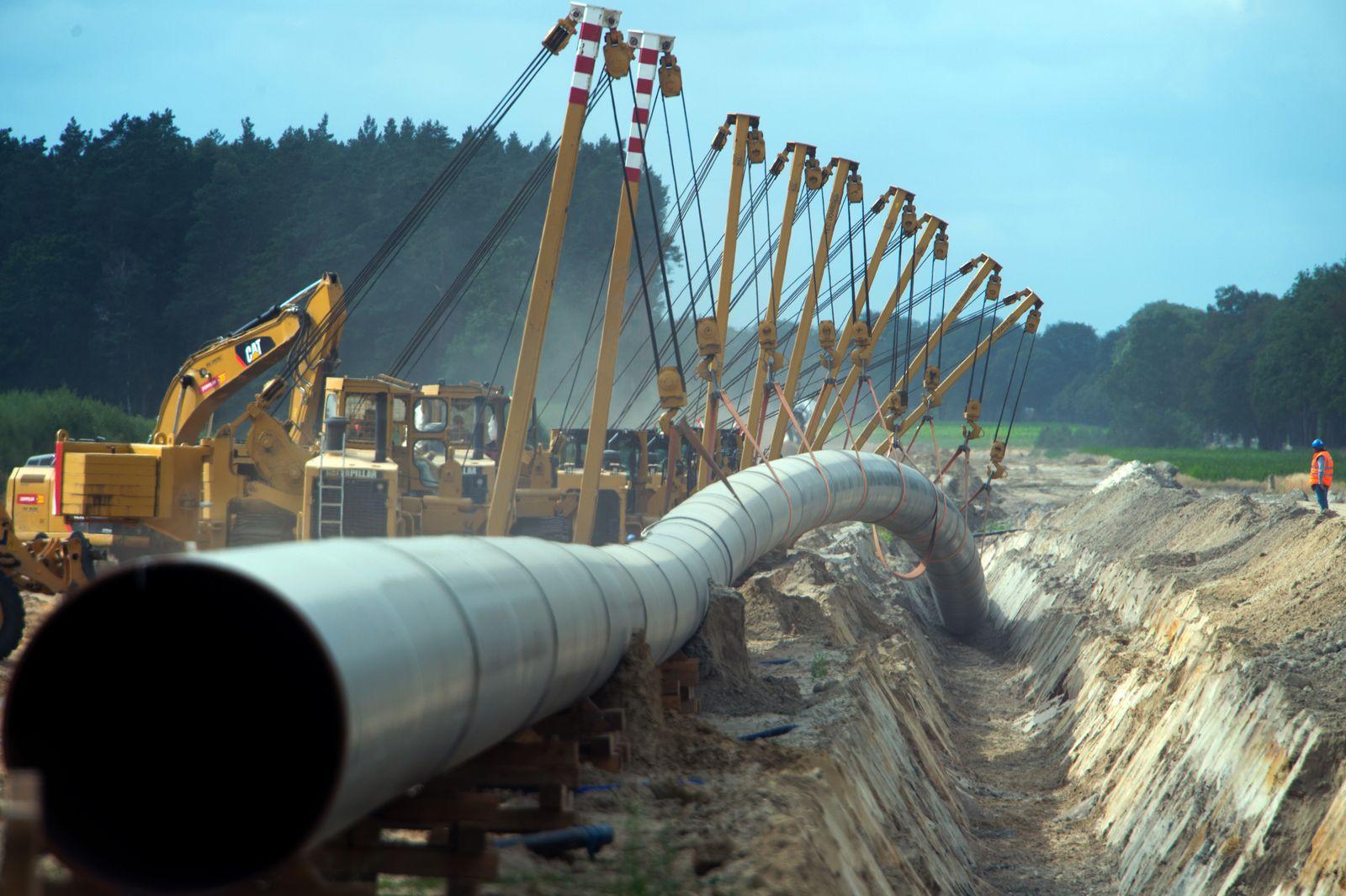 Gas-Pipeline Eugal im Bau