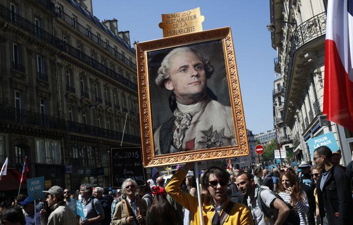 Proteste gegen Macron in Paris