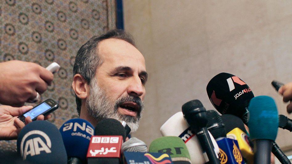 Syriens Oppositionschef Moas al-Chatib: Eigentlich zurückgetreten macht er nun doch weiter