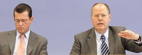 "Finanzminister Steinbrück: ""Soll er klagen"""