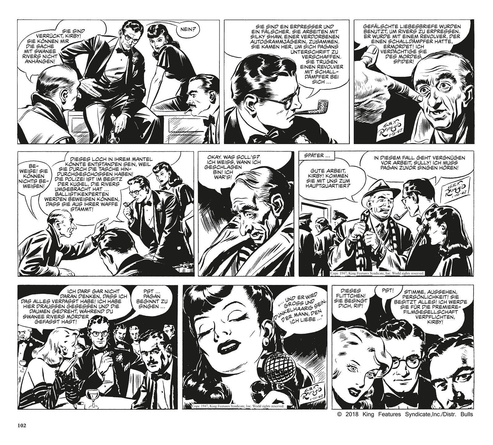 EINMALIGE VERWENDUNG Comictipps/ Alex Raymond & Ward Greene: Rip Kirby Bd. 1
