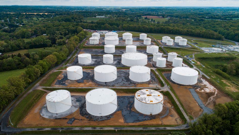 Tanks im Pipepline-Netzwerk von Colonial