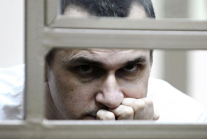 Ukrainian film director Oleg Sentsov during his trial in Rostov-on-Don