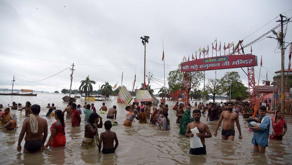 Der heftige Niederschlag soll in Indien noch vier bis fünf Tage andauern