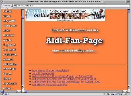 Ein Forum für preisbewusste Konsumenten - die Aldifan-Seite