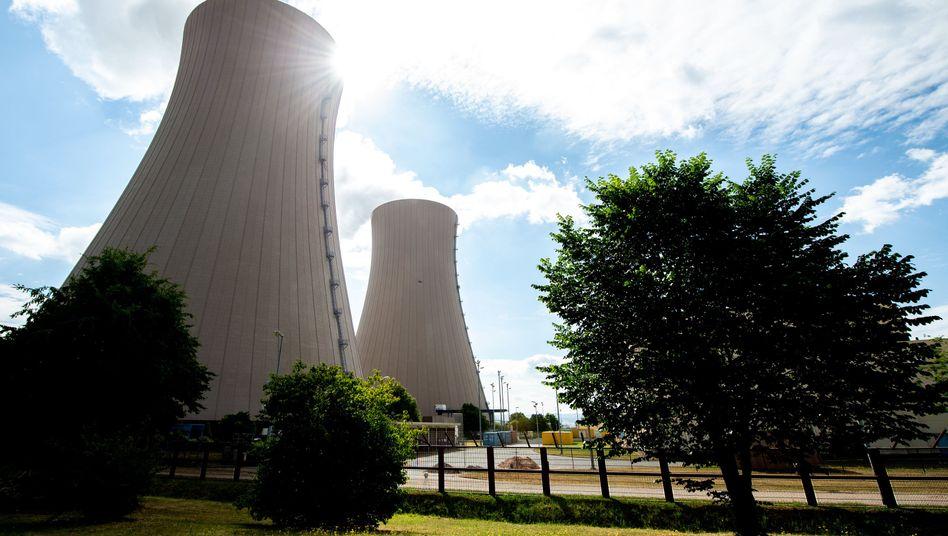Kühltürme des Kernkraftwerks Grohnde: Das AKW erwärmt die Weser zusätzlich