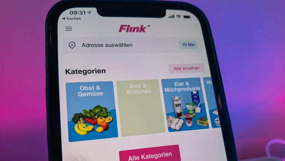 Supermarkt-App Flink: Der Dienst ist in einigen Großstädten aktiv