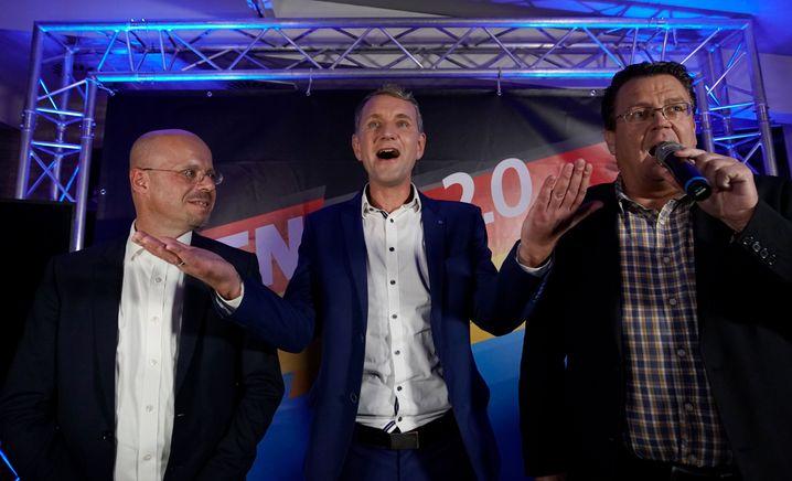 Damals noch zusammen in einer Partei: Andreas Kalbitz, Björn Höcke und Stephan Brandner