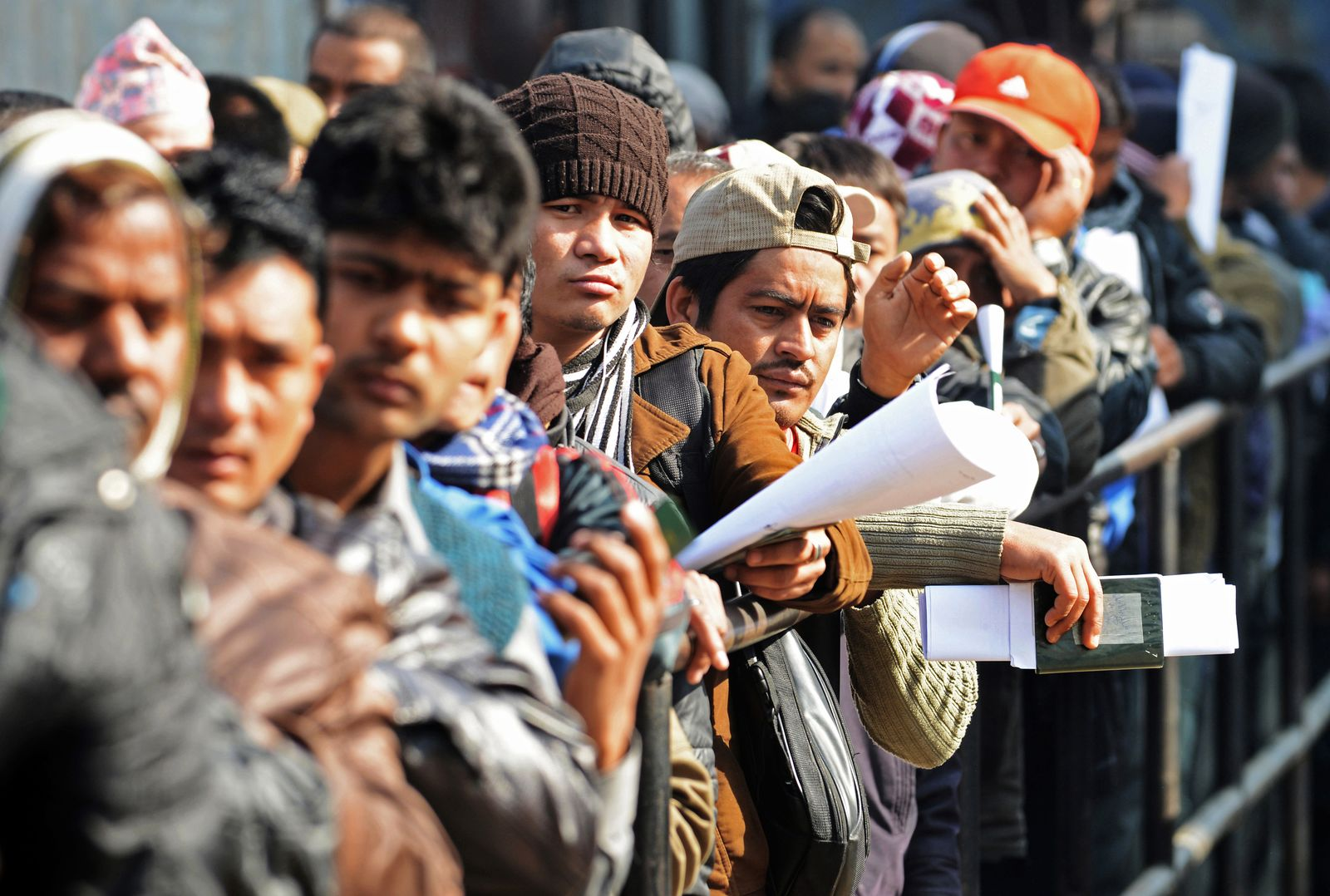 Nepalesische Arbeiter/ Katar