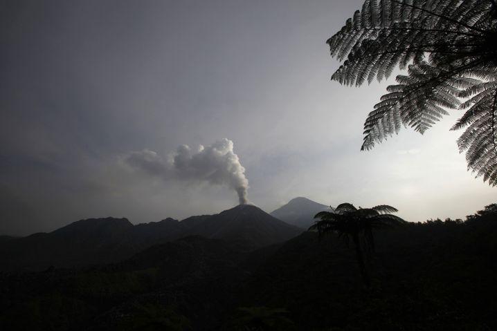 Santiaguito-Vulkan in Guatemala: Dach weggesprengt