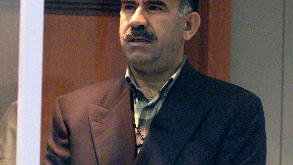 PKK-Chef Öcalan (Archivbild): Aufruf zum Engagement für Kobane